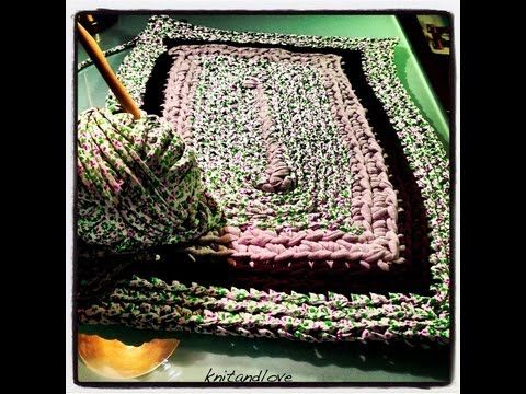 1000 images about trapillo y ol on pinterest trapillo patrones and yarns - Alfombra de trapillo cuadrada ...