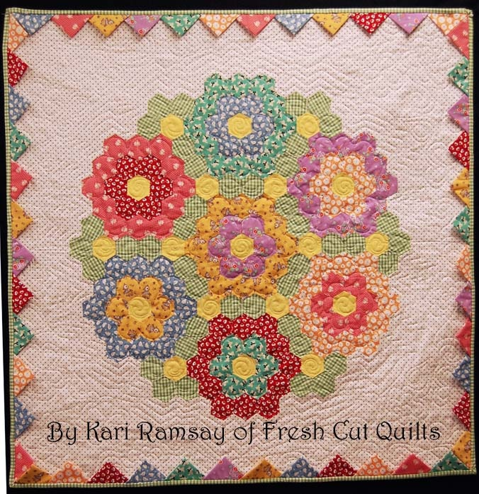 how to cut hexagon quilt pattern