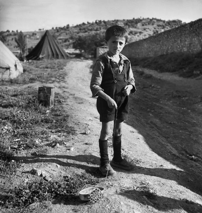 Greece 1948. Ioannina. Refugee from the civil war areas. ~ David Seymour