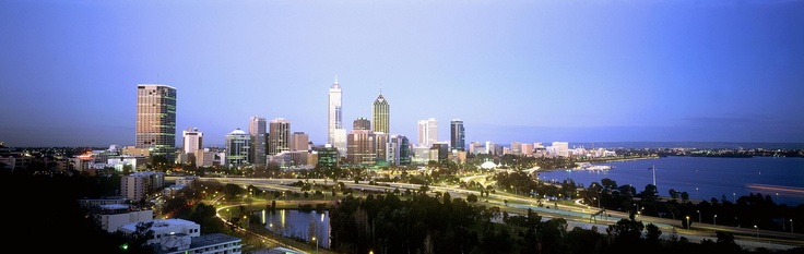 Perth city skyline. Photo: Tourism Australia. #Perth #WA #travel