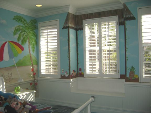 Tropical Beach Mural- South Florida private residence