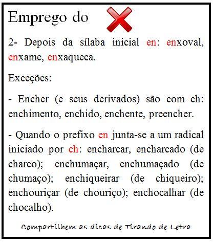 Uso do X #portugues #dicasconcursos