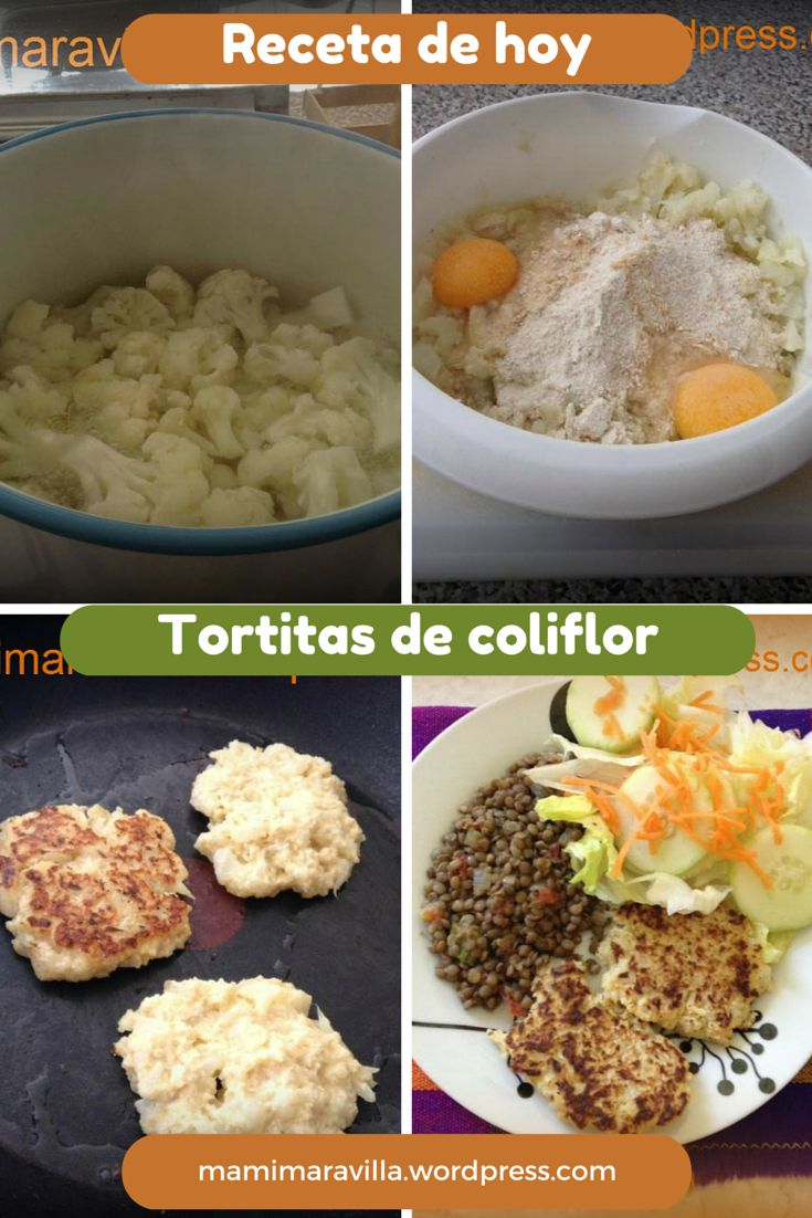 tortitas coliflor receta