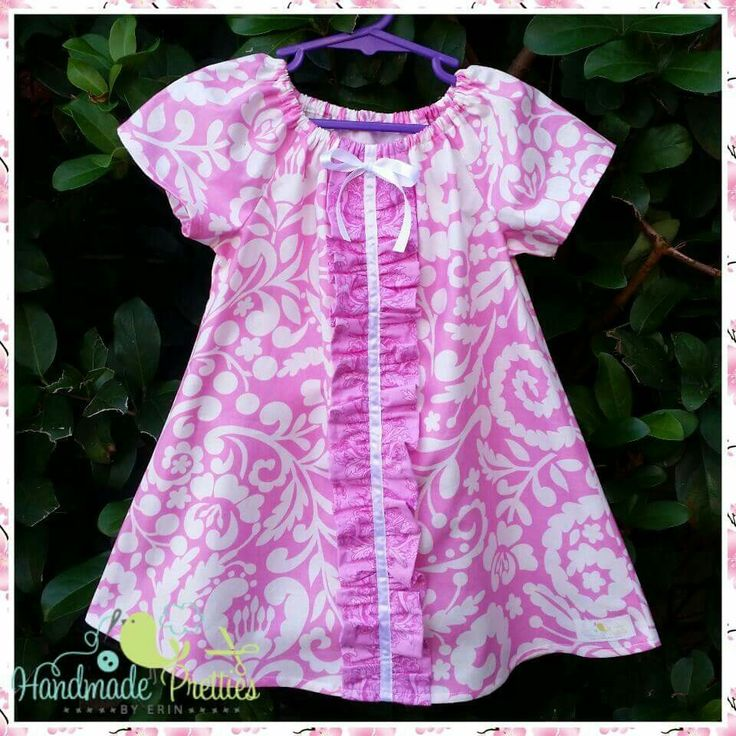 Ruffle front peasant dress by Handmade Pretties By Erin
