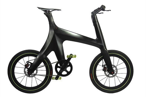 ダウンチューブやチェーンステイがない最小限のフレームを実現した ミニマルバイク C Zeta Trading カーボンファイバー 自転車 バイク