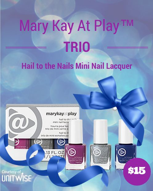 Such a cute holiday gift! :) Only $15 for a set of 3 nail polishes.  www.marykay.com/erinfield
