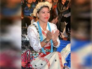 Boxer turned Rajya Sabha Member of Parliament MC Mary Kom attends Mrs Arunachal 2016 pageant