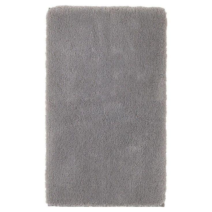 "Bath Rug Light Gray 20""x34"" Fieldcrest, Light Grey"