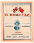 For good old England [music] : song / words by J.D. Cousins ; music by Robert Turner [View the complete score online]