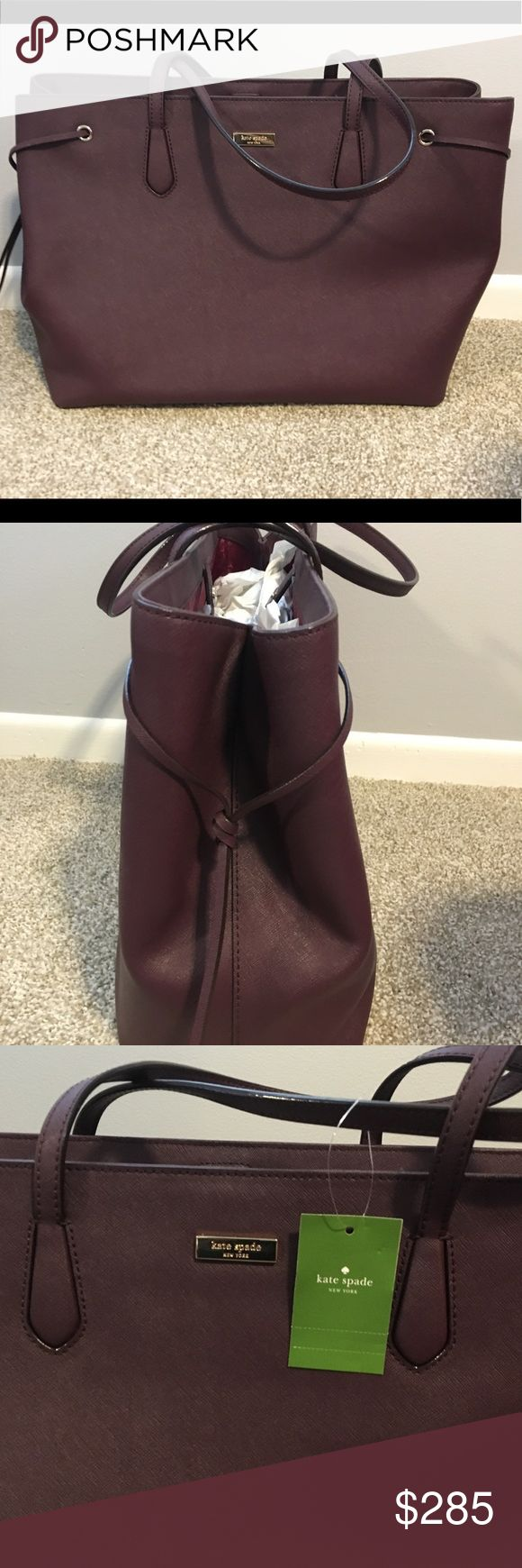BRAND NEW Kate Spade handbag 💥SALE💥 this is a beautiful purple/burgundy color. Simple and classy style. NWT kate spade Bags Shoulder Bags