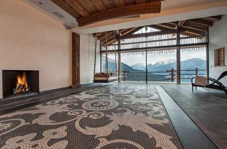 Stunning moving floor swimming pool - up