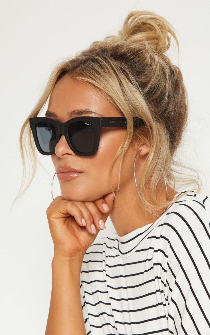 QUAY AUSTRALIA Black After Hours Oversized Sunglasses