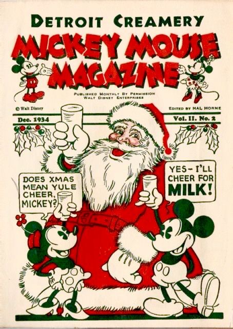 Disney Christmas Mickey Mouse Magazine, Detroit Creamery
