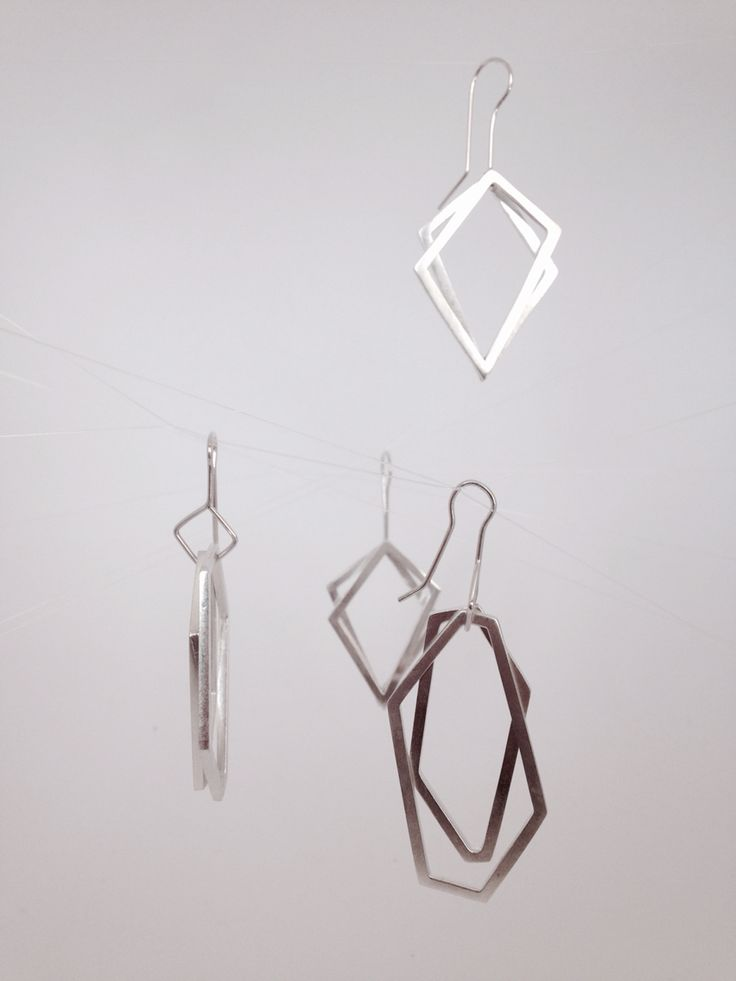 Aretes geométricos en plata