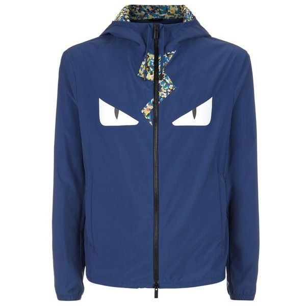 Fendi Monster Rain Jacket (14.342.020 IDR) ❤ liked on Polyvore featuring mens, men's clothing, men's outerwear and men's jackets