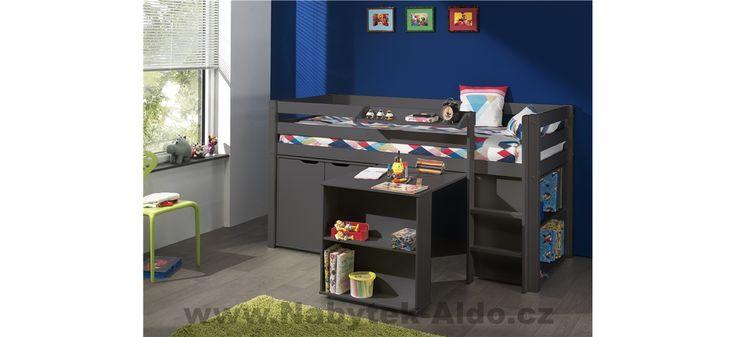 Dětská postel z masivu s úložným prostorem Pino PIHSZG15-A