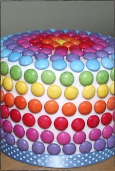 Cake Decorating Ideas With Smarties : 17 Best images about Smarties cake on Pinterest Smarties ...