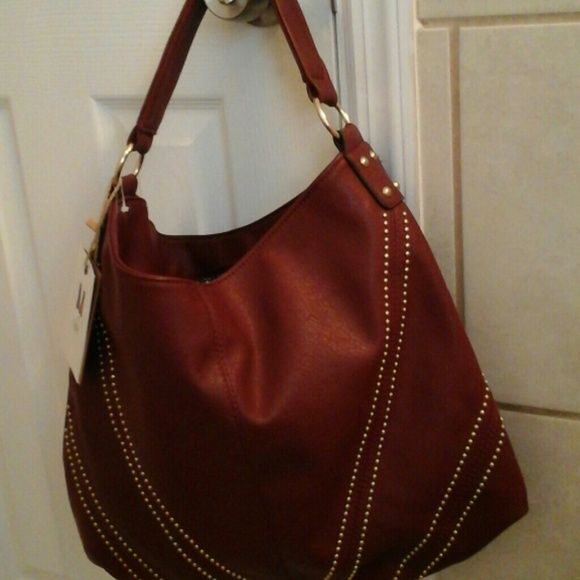 Hobo bag today only price!! FINAL FAREWELL..lowest Wine color leather hobo bag...brand new...tag was lost Bags Hobos