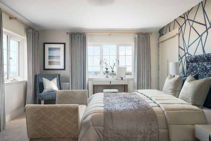 dubford aberdeen bedroom interior photograph blue white. Black Bedroom Furniture Sets. Home Design Ideas
