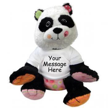 Personalized Stuffed Panda 11 inch Mary Meyer Cheery