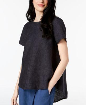 de46f3dc66 Eileen Fisher Organic Linen High-Low Tunic