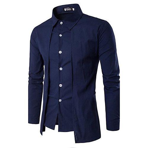 Men's Cotton Slim Shirt - Solid 2018 - $12.99