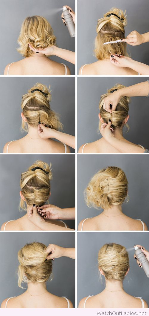 Simple short hair updo tutorial