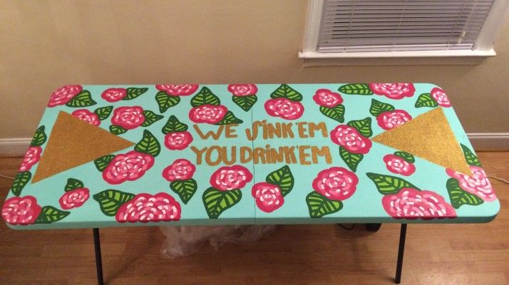 Making a Lilly inspired beer pong table. TSM.
