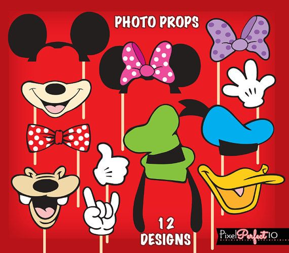 MICKEY MOUSE Photo Booth Props compleanno di di PixelPerfect10