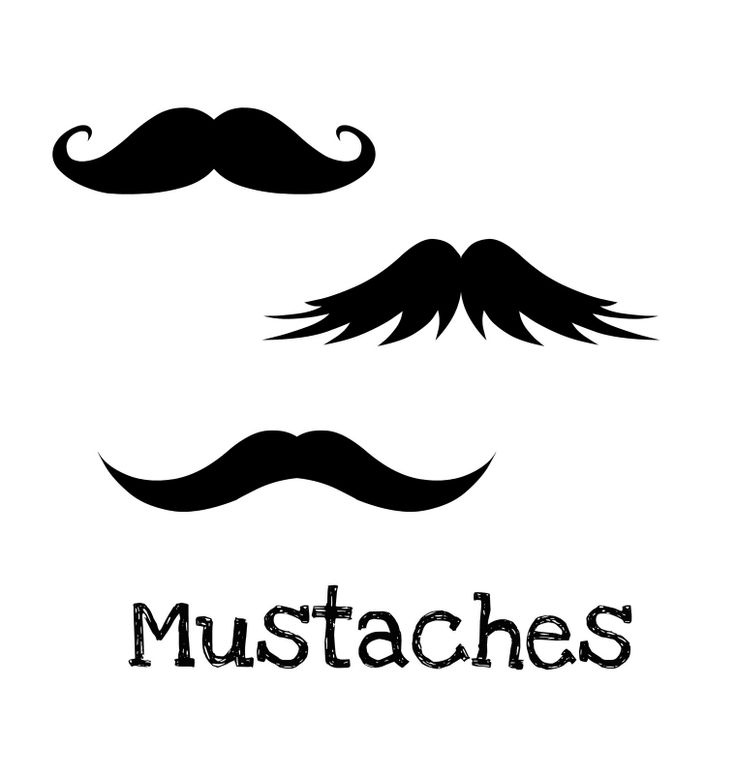 Cut Out Printable Mustache | just right click on the picture & save for the mustache templates}