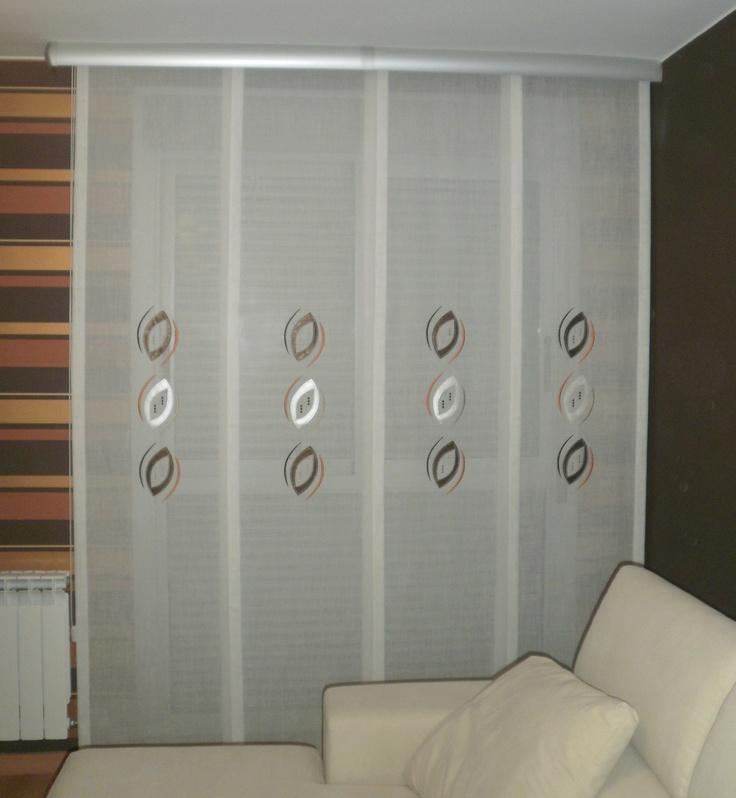 Sencillo panel japon s de cuatro v as y galer a en acero - Riel panel japones ikea ...