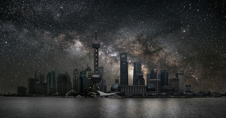 French artist Thierry Cohen imagines the world's largest cities under clear night skies.