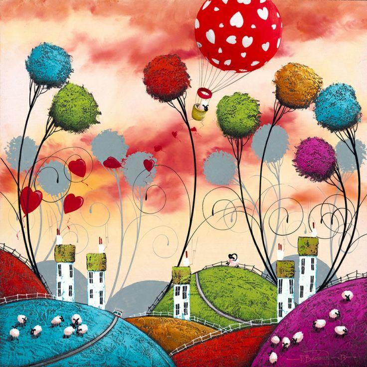 'Love For Ewe' By Dale Bowen. High Gloss Original £195.00.Beautiful Valentine Gift