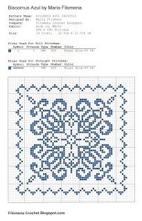 Biscornu Azul cross-stitch - free
