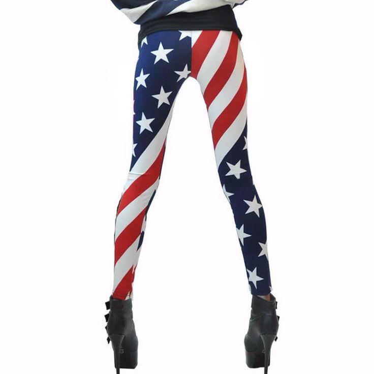 USA American Flag Leggings