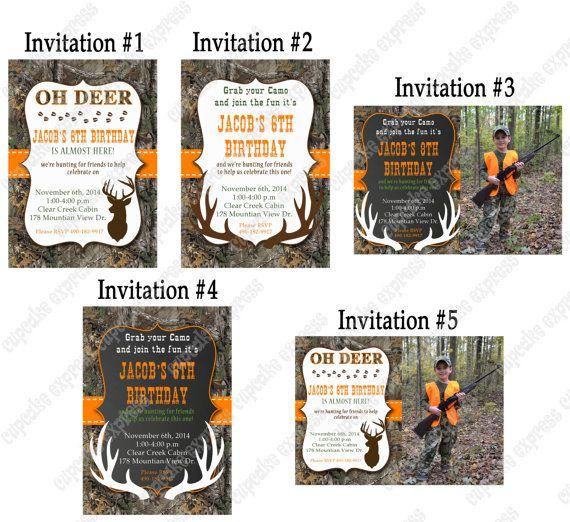 Camo Boy Deer Hunting Birthday party decorations PRINTABLE