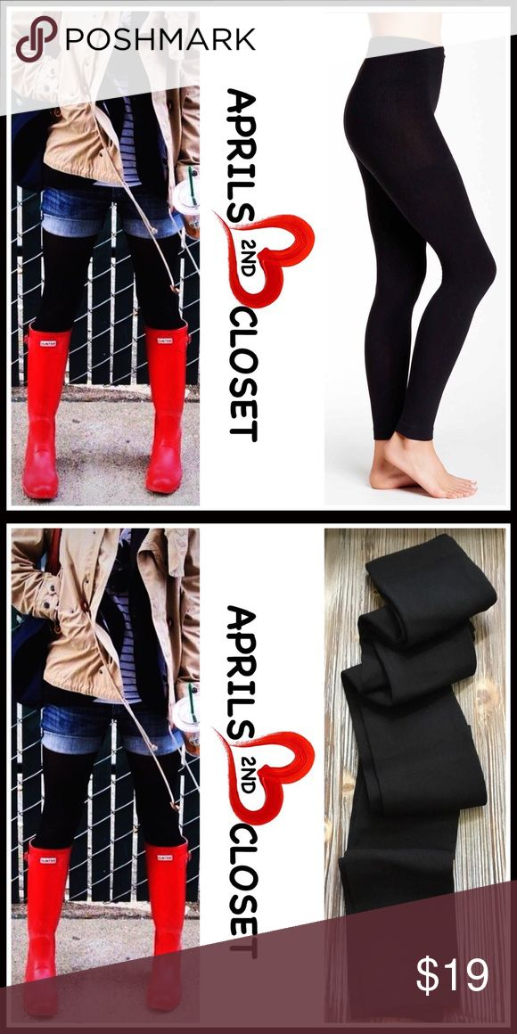 """Black FLEECE LINED LEGGINGS/Footless Tights 🆕 NEW WITH TAGS 🆕   Boutique FLEECE LINED LEGGINGS/Footless Tights * Incredibly comfortable & high quality. Solid black.  * Ideal for layering  * Will not fade or shrink; Machine wash.  * S/M, 4'10""""-5'4"""", 90-120 LBS, sizes 2-6 * M/T, 5'4""""-5'11"""", 120-160 LBS, sizes 6-10 * Super Soft & Cozy; Stretch-To-Fit Style   Fabric: 92% Polyester & 8% Spandex Color: Jet Black Item#LEM ✅ Bundle Discounts ✅ 🚫No Trades 🚫 Note: photo may not reflect listing…"""