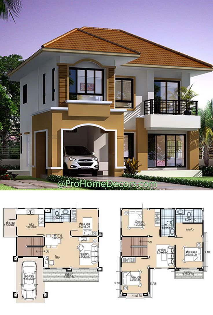 House Plans 9x9 5 With 4 Bedrooms In 2021 House Construction Plan Architect Design House Modern Bungalow House
