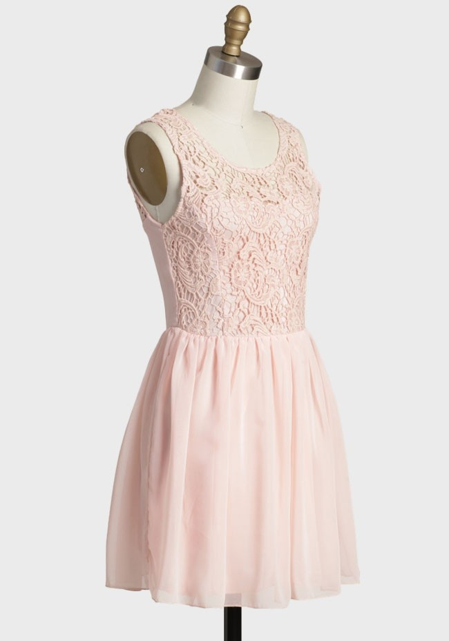 Inspiration pinterest pink modern vintage dress and crochet