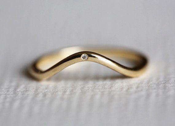 Eheringe - Diamanten Ring, Diamantring, Diamant oval Ring - ein Designerstück von Capucinne bei DaWanda