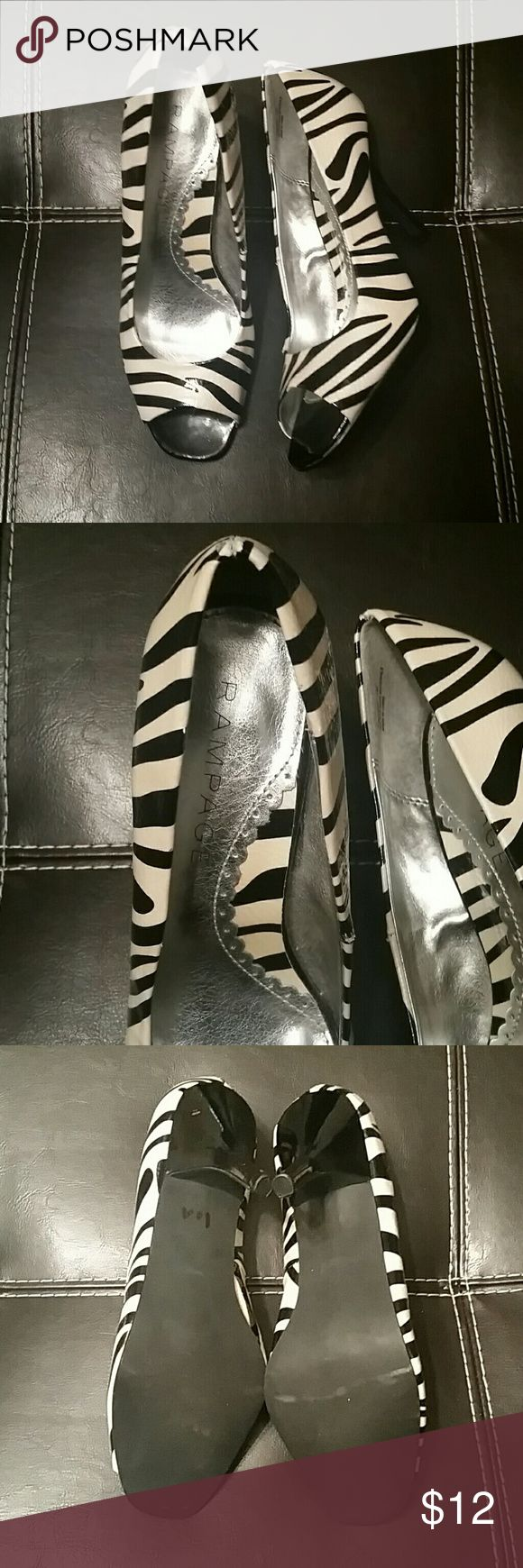 Zebra Print Pumps Rampage zebra print peep toe pump. Rampage Shoes Heels
