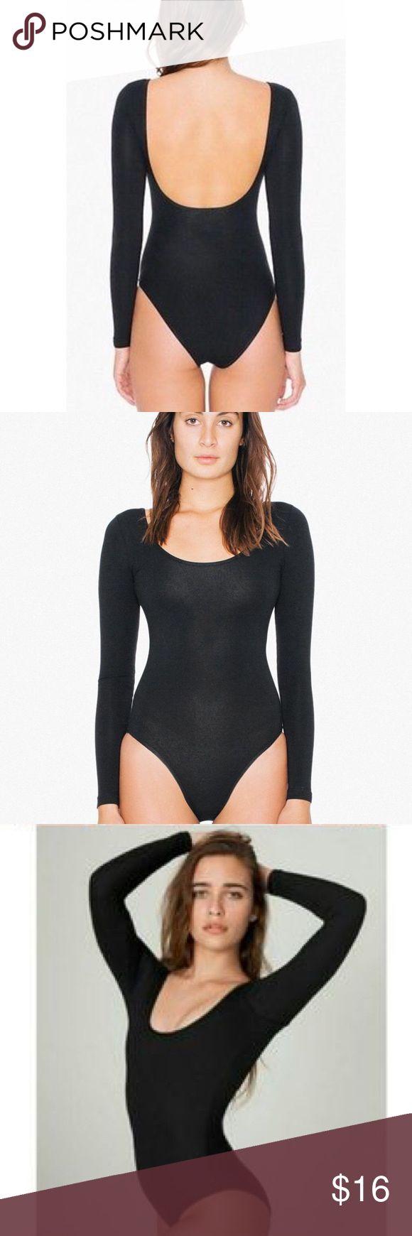 American Apparel Bodysuit Black, long sleeved, scoop back. Great condition. American Apparel Tops