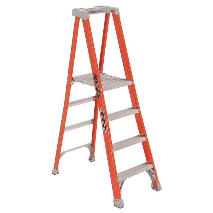 4 ft. Fiberglass Pinnacle Platform Ladder with 300 lbs. Load Capacity Type IA Duty Rating