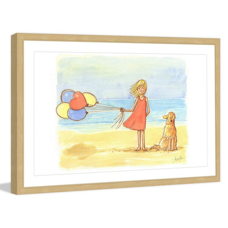 Marmont Hill Windy Girl Framed Wall Art - MH-PHYHAR-41-NFP-18