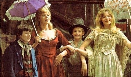 Oliver Twist , I named my daughter Shani after watching this movie as a kid. The red head with the umbrella her real name is Shani Wallace.
