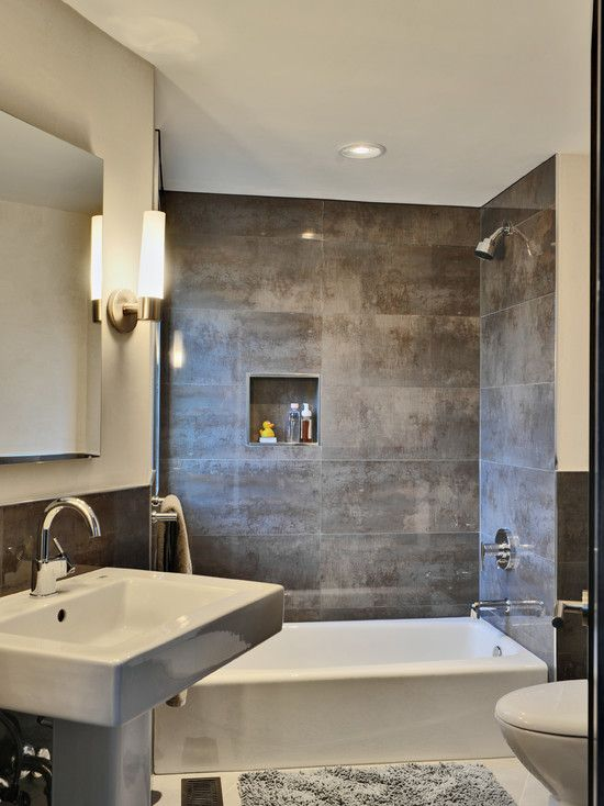 Small Bathroom Dark Tile Design Ideas, Pictures, Remodel, And Decor   Page 3 Part 82