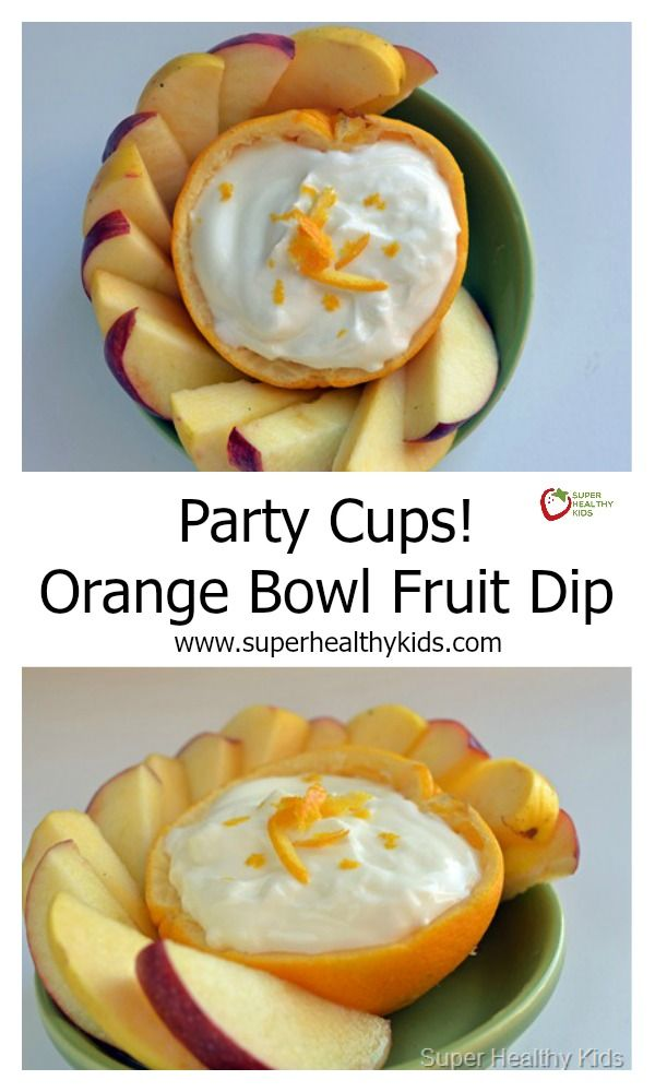 Party Cups  Orange Bowl Fruit Dip   Repurpose the peel and wash less dishes  http   www superhealthykids com party cups orange bowl fruit dip