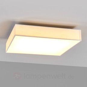 Oka - weiße LED-Deckenleuchte aus Stoff