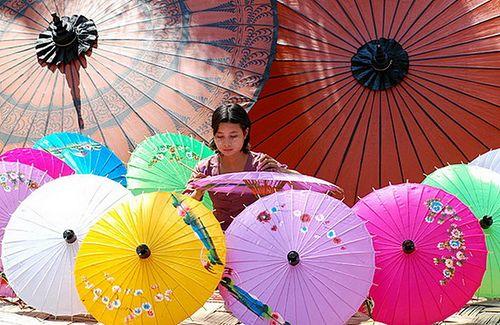 Handmade Pathein Umbrella from Myanmar