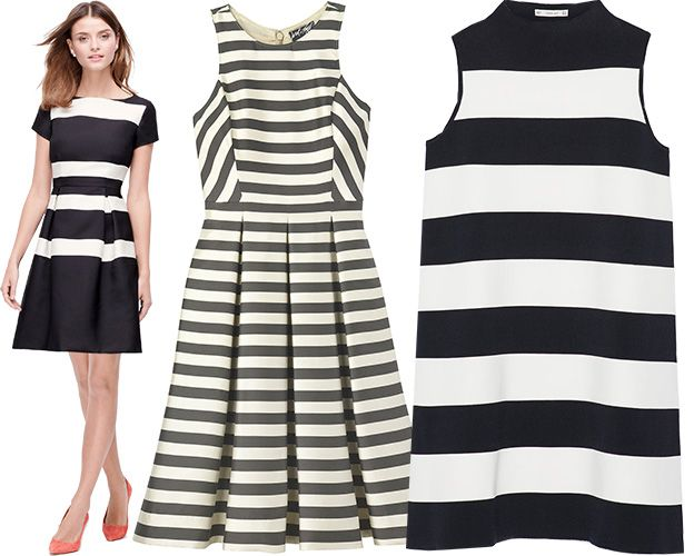 Striped summer cocktail dresses